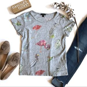 J. Crew Bird Life Art T-Shirt